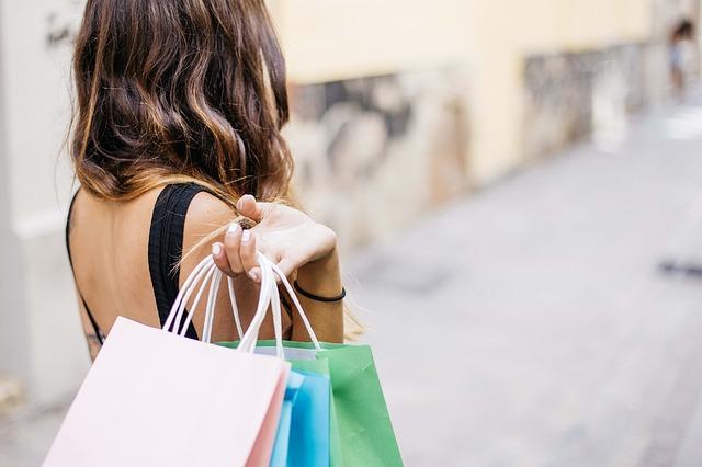 nákupy v létě